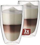 Maxxo Latteglazen Dubbelwandig - set van 2 - 380 ml
