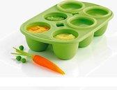 Mastrad BabyPod Bewaarbox - Siliconen - Voor 6 porties - 60 ml - Groen