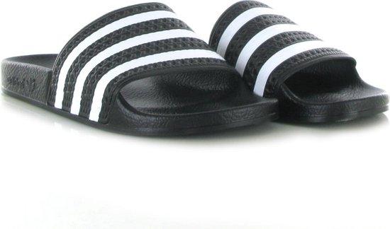 adidas Adilette Heren Slippers - Core Black/White/Core Black - Maat 47 1/3 - adidas