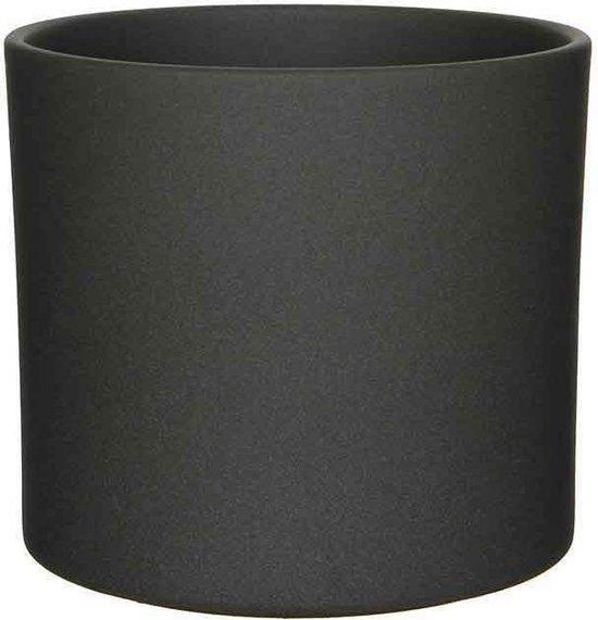 Mica Decorations era ronde pot donkergrijs mat maat in cm: 26 x 28 - mat, donkergrijs