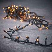 Luca Lighting kerstverlichting lichtsnoer - buiten - 550 lampjes extrawarm wit - flashfunctie - 1100 cm