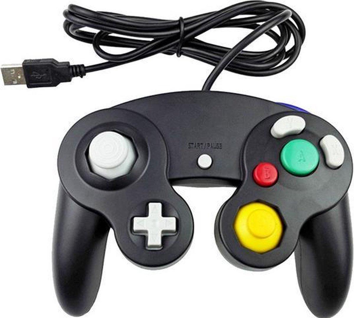 Coretek Nintendo GameCube style USB controller voor PC, notebook en emulator / zwart – 1,4 meter
