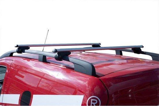 Dakdragerset Auto's Met Open Dakrailing Zilver
