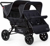 Childwheels Vierling buggy - Two By Two - zwart CWTB2