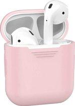 Siliconen Bescherm Hoesje Cover voor Apple AirPods Case - Licht Roze