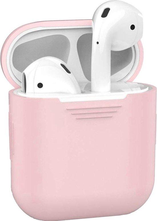 Afbeelding van Siliconen Bescherm Hoesje Cover voor Apple AirPods Case - Licht Roze