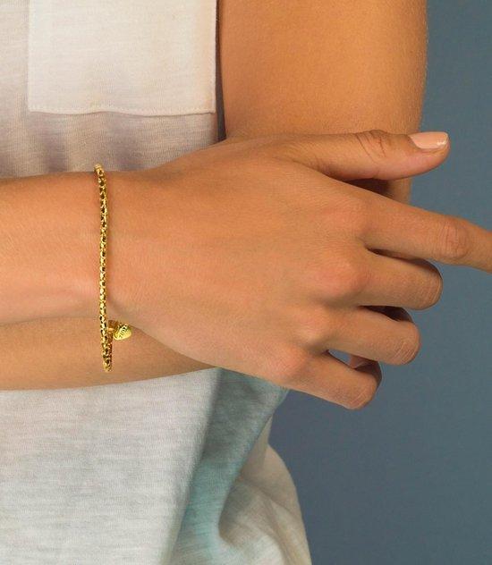 ZINZI zilveren armband goud verguld ZIA1129G (Lengte 19,5cm)