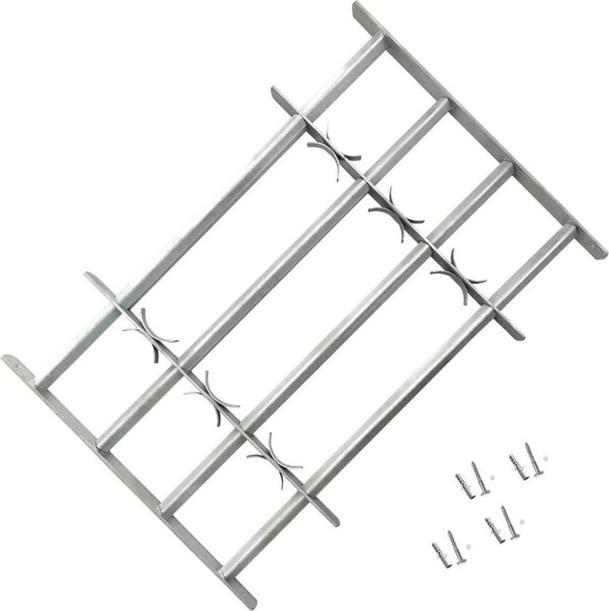 vidaXL Raambeveiliging verstelbaar met 4 dwarsstangen 1000-1500 mm