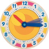 Goki Clock with cog wheel - learn to tell the time