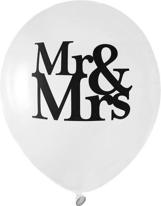 Santex Mr & Mrs ballonnen 23 cm - 8 stuks