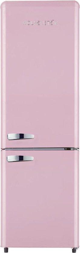 Koelkast: Wolkenstein KG 250.4 RT B - Retro koel-vriescombinatie - Roze, van het merk Wolkenstein