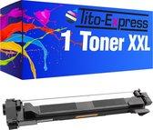 Tito-Express PlatinumSerie 1x Brother TN-1050 XL Zwart toner alternatief voor Brother TN-1050 Zwart