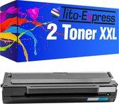 Tito-Express PlatinumSerie Toners 2x Samsung MLT-D1042S ML-1660 XL Zwart alternatief voor Samsung MLT-D1042S ML-1660