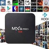 Android 6.0 tv box MXQ PRO 4K Ultra HD + Kodi 17.1 + GRATIS Rii I8 Zwart Wireless keyboard