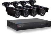 Beveiligings camera set met 4 cameras ZWART CCTV
