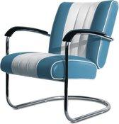 Bel Air Retro Loungestoel LC-01 Blauw