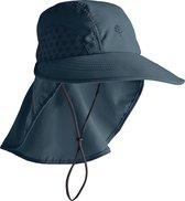 Coolibar - UV-hoed voor kinderen - donkerblauw - maat S/M (53CM)