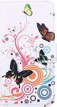Mobigear Wallet Book Case White Butterfly iPhone 7 / 8