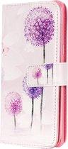Mobigear Wallet Book Case Purple Dandelion iPhone 7 / 8