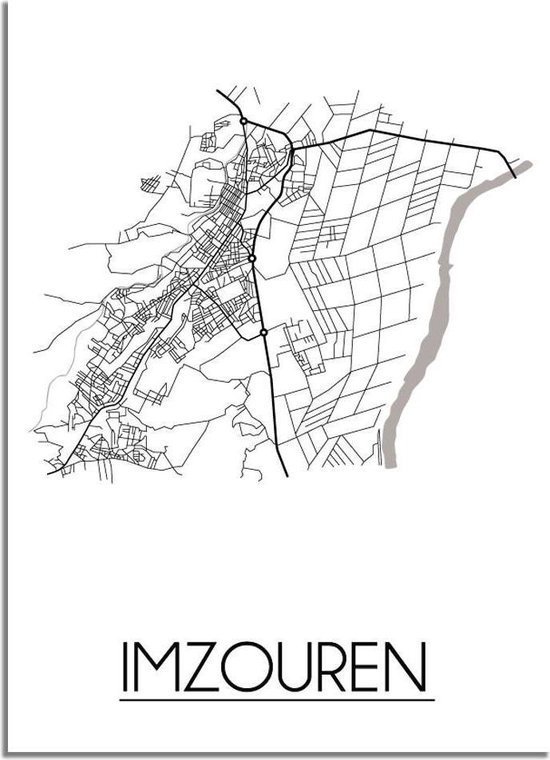 DesignClaud Imzouren Plattegrond poster B2 poster (50x70cm)