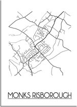 DesignClaud Monks Risborough Plattegrond poster A2 poster (42x59,4cm)