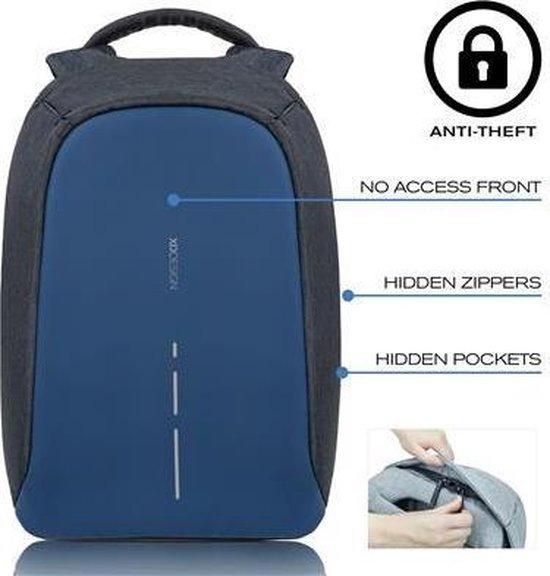 XD Design Bobby Compact - Anti-Diefstal Rugzak 11 liter - Grijs / Blauw - XD Design