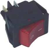 Fixapart 2-polige rode aan/uit schakelaar 16A / 250V