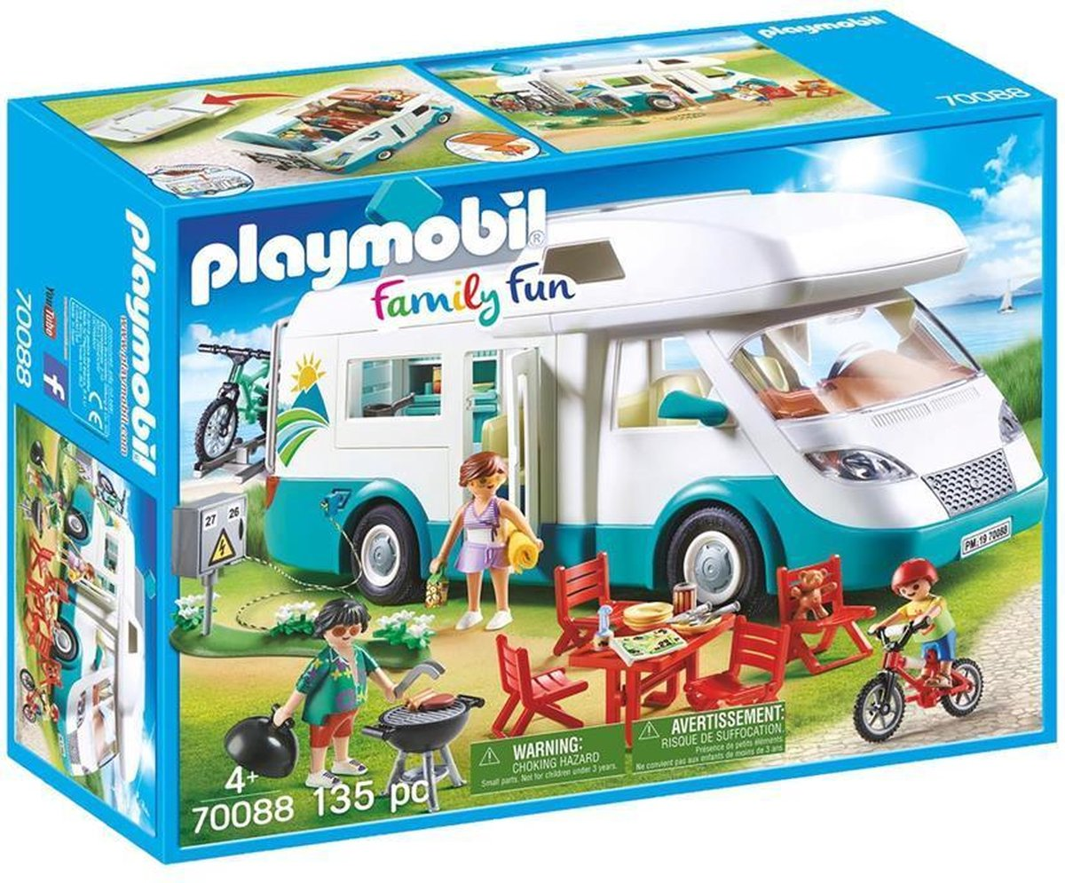 PLAYMOBIL Family Fun Mobilhome met familie - 70088