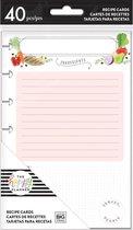 Me and My Big Idea's - Happy Planner Recipe cards -  40stuks