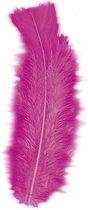 50x roze hobby sier veertjes van 17 cm - hobby en knutsel artikelen
