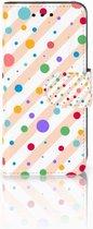 Samsung Galaxy S4 Mini i9190 Wallet Book Case Hoesje Design Dots