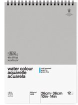 Winsor & Newton Aquarel Papier Classic - 300 g/m² - blok 12 vel - Spiraal - 26X36cm