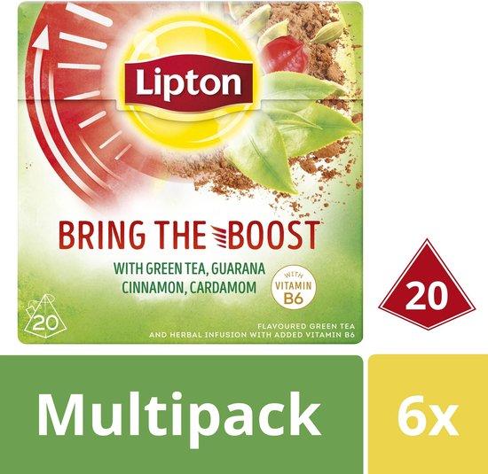 Lipton Bring the Boost Groene Thee - 6 x 20 theezakjes