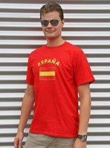 Rood heren t-shirt Spanje 2XL