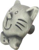 AVENUE meubelknop Kat tin 33x35mm | DONKERGRIJS