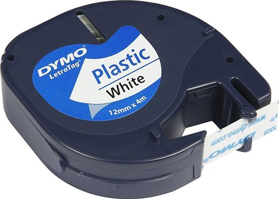 Afbeelding van Dymo labeltape - 91201 Letratag - Wit