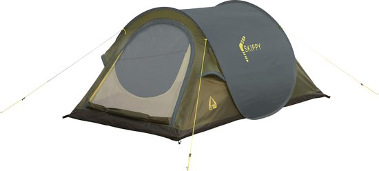 Best Camp Skippy Pop Up Tent - Donkergrijs - 2 Persoons