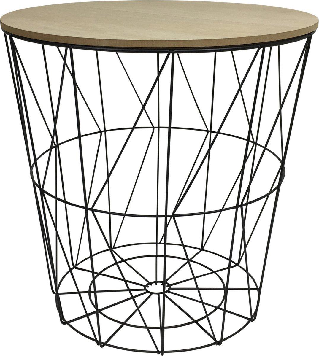 Housevitamin - Basket - bijzettafel - metal - zwart - Housevitamin
