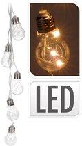 5 ouderwetse sfeer gloeilampen op batterij - Uniek design - Warm wit licht -