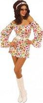 Seventies jurkje met hartjes print 36 (s)