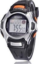 Synoke - Horloge - 38 mm - Rubber - Zwart