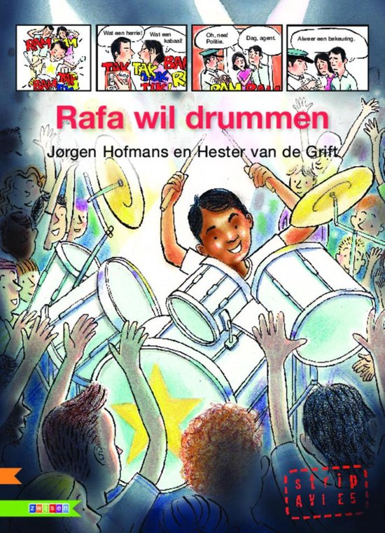 AVI strip - Rafa wil drummen