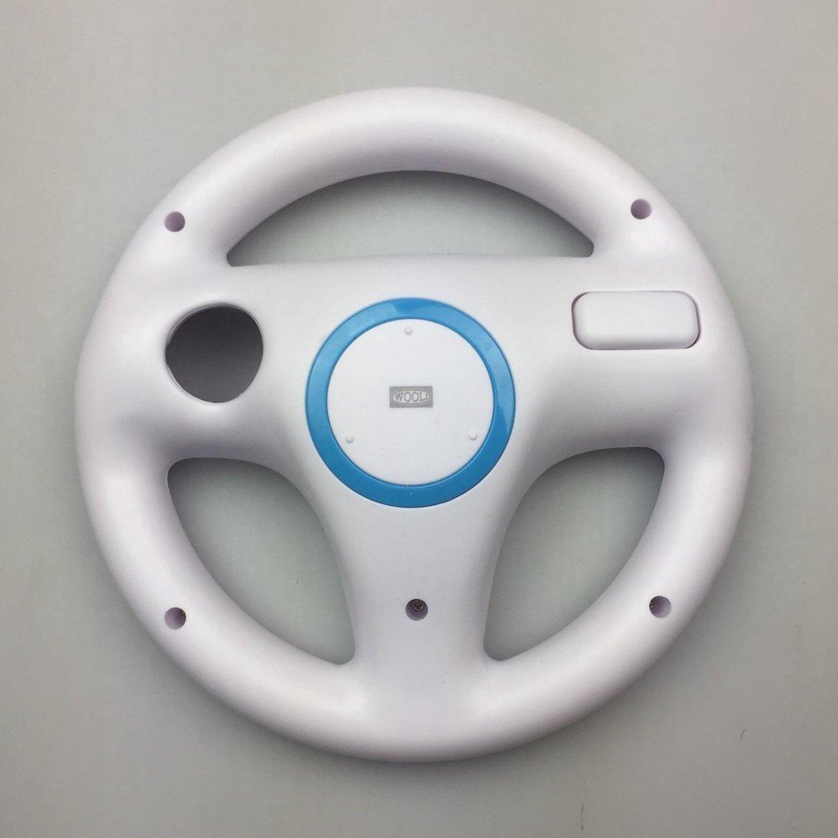 Race stuurwiel/Wii stuur controller voor Nintendo Wii & Wii U   Wit