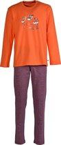 Woody pyjama flamingo - oranje -172-1-PLS-S/564 - maat 62