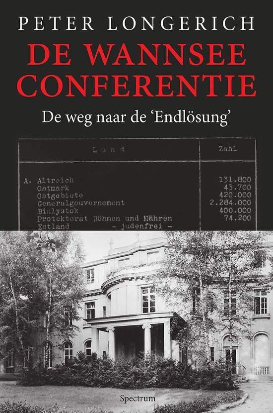 Boek cover De Wannseeconferentie van Peter Longerich (Hardcover)