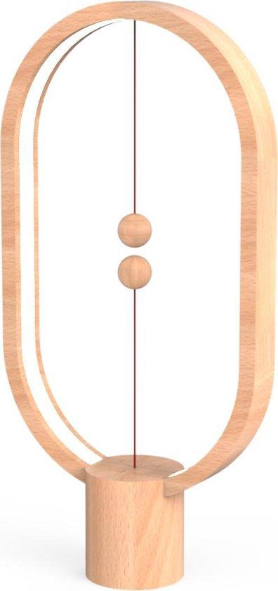 Allocacoc Heng Balance Lamp - Ovaal - Hoogte 40 cm - Hout