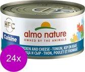 Almo Nature - Tonijn en Kaas - Kattenvoer - 24 x 70 g