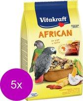 Vitakraft African Papegaaienvoer - Vogelvoer - 5 x 750 g