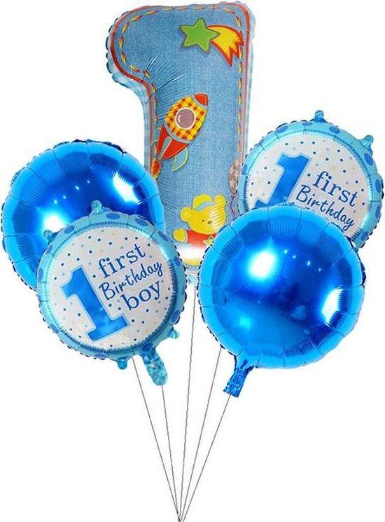 Ballonnen set First birthday boy blauw