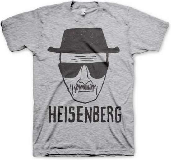 T-shirt Breaking Bad Heisenberg grijs 2xl